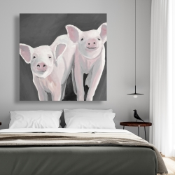 Canvas 48 x 48 - Two little piglets