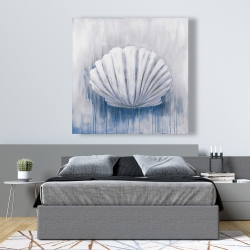Canvas 48 x 48 - Blue feston shell