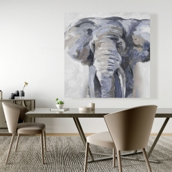 Canvas 48 x 48 - Pastel blue elephant