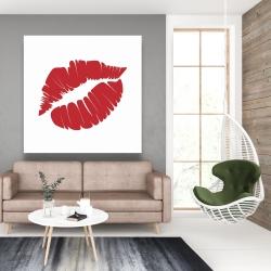 Canvas 48 x 48 - Red lipstick mark
