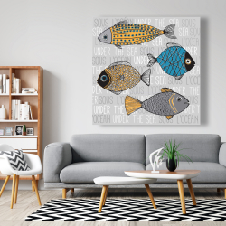 Canvas 48 x 48 - Fishes' illustration