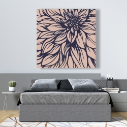 Canvas 48 x 48 - Dahlia flower