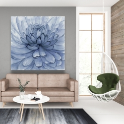 Canvas 48 x 48 - Blue petals flower