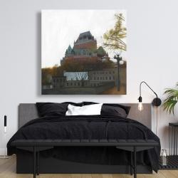 Canvas 48 x 48 - Le château de frontenac in autumn