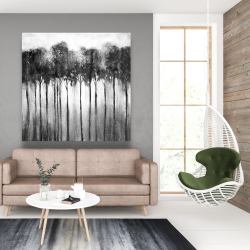 Canvas 48 x 48 - Abstract forest black and white