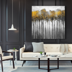 Canvas 48 x 48 - Abstract yellow forest