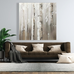 Canvas 48 x 48 - Delicate birch trees