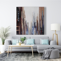 Canvas 48 x 48 - Abstract buildings