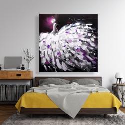 Canvas 48 x 48 - Purple peacock