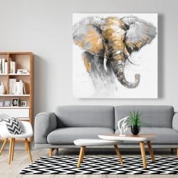 Canvas 48 x 48 - Beautiful golden elephant