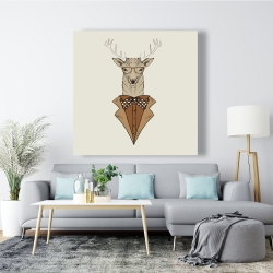 Canvas 48 x 48 -  deer with brown coat
