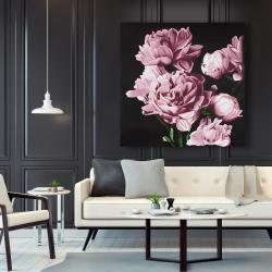 Canvas 48 x 48 - Pink peonies