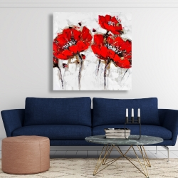 Canvas 48 x 48 - Abstract poppy flowers