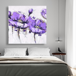 Canvas 48 x 48 - Abstract purple flowers