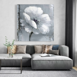 Canvas 48 x 48 - Gray & white flowers
