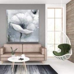 Canvas 48 x 48 - Grayscale flowers