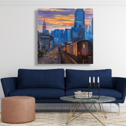 Canvas 48 x 48 - Subway in new-york city