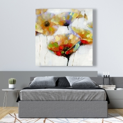 Canvas 48 x 48 - Color spotted flowers