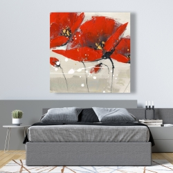 Canvas 48 x 48 - Red flowers with an handwritten typo