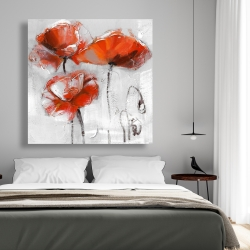Canvas 48 x 48 - Red flowers