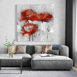Canvas 48 x 48 - Abstract poppies