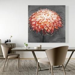 Canvas 48 x 48 - Abstract dahlia flower