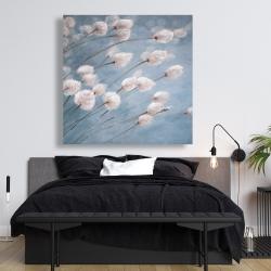 Canvas 48 x 48 - Delicate cotton flowers