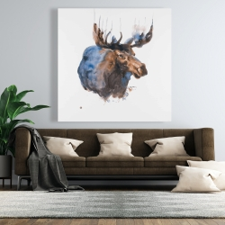 Canvas 48 x 48 - Abstract blue moose