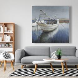 Canvas 48 x 48 - Blue fishing boat