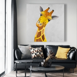 Canvas 48 x 48 - Curious giraffe