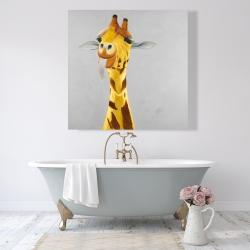 Canvas 48 x 48 - Funny giraffe face