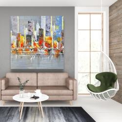 Canvas 48 x 48 - Color splash cityscape