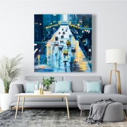 Canvas 48 x 48 - Rainy streets of new york