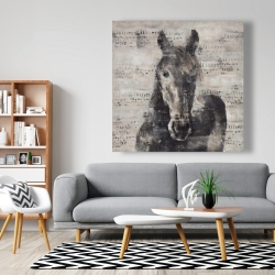 Canvas 48 x 48 - Abstract horse with typography