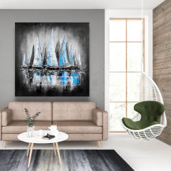 Canvas 48 x 48 - Blue boats