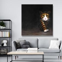 Canvas 48 x 48 - Discreet cat