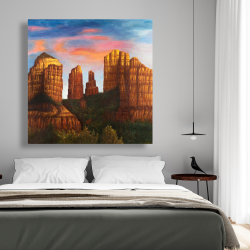 Canvas 48 x 48 - Cathedral rock in arizona