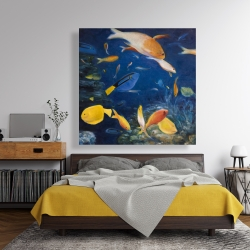 Canvas 48 x 48 - Colorful fish under the sea