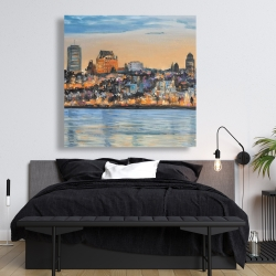 Canvas 48 x 48 - Skyline of quebec city