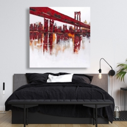 Canvas 48 x 48 - Red bridge