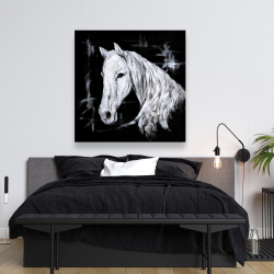 Canvas 48 x 48 - Abstract horse profile view