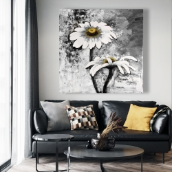 Canvas 48 x 48 - Abstract daisies flowers