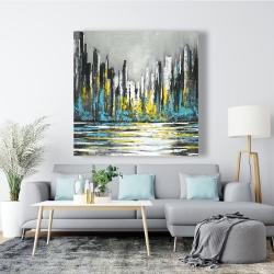 Canvas 48 x 48 - Abstract blue skyline