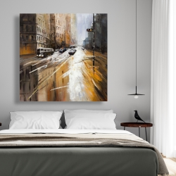 Canvas 48 x 48 - Abstract city street