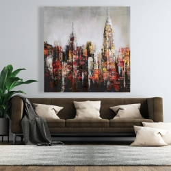 Canvas 48 x 48 - Paint splash city