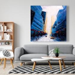 Canvas 48 x 48 - Blue asymmetrical street