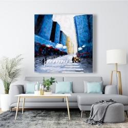 Canvas 48 x 48 - Blue buildings