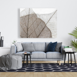 Canvas 48 x 60 - Translucent dried leaves