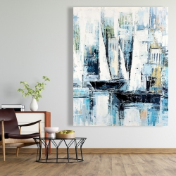 Canvas 48 x 60 - Industrial style boats