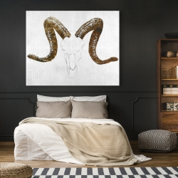 Canvas 48 x 60 - Aeries skull with brown horns
